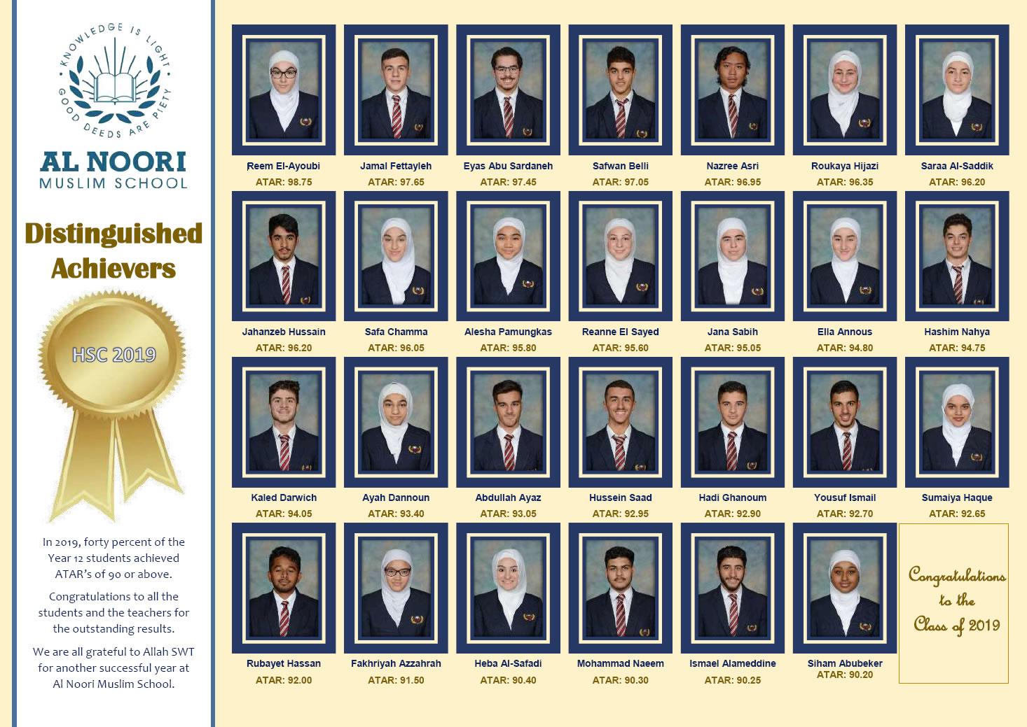 Al Noori Muslim School 2019 Outstanding Achievements HSC Results